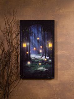 Lighted Entrance to Enchantment Lighted Canvas Canvas Light Art, Canvas Wall Art, 3d Painting, Light Painting, Lighted Canvas Pictures, Paper Light, Fairy Art, Art Pages, Tag Art