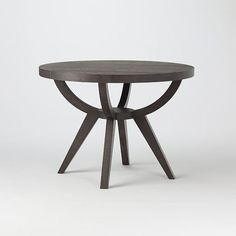 Arc Base Pedestal Table | west elm.  A different table option in wood.