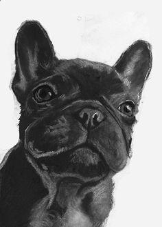 French bulldog art print, Frenchie gift,Frenchie Art, Black frenchie, French Bulldog decor,……