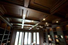 Classic Wood Paneling Ceiling #basementceilingstorageideas