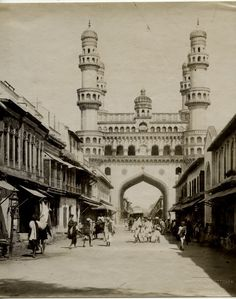 Vintage Photograph of Char Minar - Hyderabad 1880's