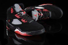Air Jordan 5 V Retro Shoes Black Red Jordans Sneakers, Air Jordans, Air Jordan 5 Retro, Retro Shoes, Air Jordan Shoes, Black Shoes, Cute, Red, Black Loafers