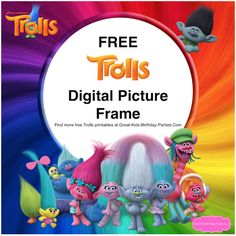 Trolls Digital Picture Frame - Love this free Dreamworks Trolls digital picture frame. Trolls little fans will love to see themselves with the Trolls.