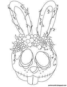 This one is kind of goofy but I really like it. POTIONSMITH: Sugar Skull Bunnies http://potionsmith.blogspot.com/2013/03/sugar-skull-bunnies.html