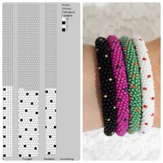 Bead Crochet Patterns, Bead Crochet Rope, Beaded Jewelry Patterns, Fabric Jewelry, Beading Patterns, Crochet Beaded Bracelets, Crochet Necklace, Beaded Necklace, Bead Jewellery