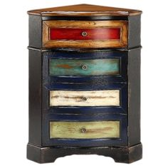 Multicolored One-drawer Corner Chest - Overstock Shopping - Great Deals on Coffee, Sofa & End Tables