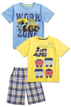 From CWDkids: Work Zone & Train Cars Tees.