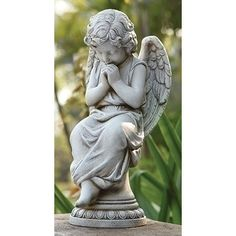 Roman, Inc. Angel Seated On Pedestal Statue & Reviews | Wayfair