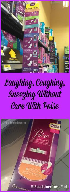 You'll be Laughing, Coughing, Sneezing without Care with Poise! Purchase at @walmarthub #PoiseLinerLove AD