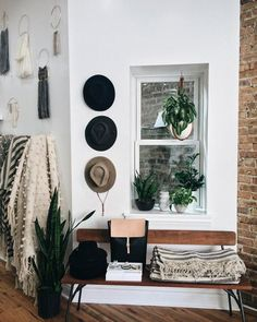Simple, modern boho entryway.