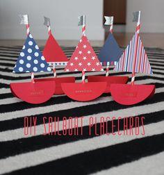 DIY Sailboat Placecards