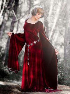 Robe médiévale MORGAUSE - robes - La montagne couronnée - Fait Maison