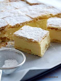 Kremówka – Zjem to! Custard Slice, Custard Tart, Sweet Recipes, Cake Recipes, Dessert Recipes, Cheesecake, Apple Pie Bars, Polish Recipes, Breakfast Dessert