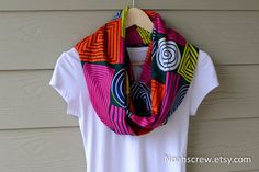 Infinity scarf/ Rectangle Scarf: Ankara African Wax by NoahsCrew African Dresses For Women, African Attire, African Wear, African Women, African Inspired Fashion, African Print Fashion, Fashion Prints, African Prints, Fashion Design