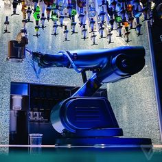 The robot bartender from our cruise aboard the Quantum of the Seas.