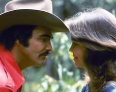 Smokey and the Bandit Burt Reynolds and Sally Field  bandits' infectious laugh and sally field...damn she was hot in this one!
