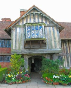The Front Entrance of Great Dixter Manor House