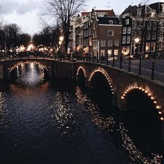 Image in Dark Brown collection by αиgєℓιиα ♡ on We Heart It #bridge #light #theme #amsterdam #DarkBrown #darkbrown #city #river #brown #travel #share #instafollow #tagforlikes #chocolate