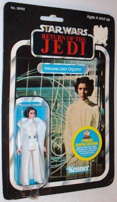 PRINCESS LEIA ORGANA 1983 Kenner Return Of The JEDI Card Star Wars Action figure