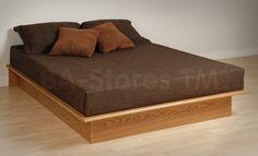 Prepac Platform Bed in Oak by Prepac Furniture