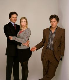 Colin Firth, Renée Zellweger and Hugh Grant in Bridget Jones's Diary