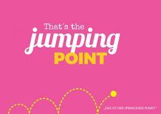 That's the jumping point | Denglisch | Echte Postkarten online versenden…