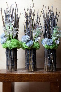 From Fresh Florals in Toronto. Nice change from a dozen red, no? From Fresh Florals in Toronto. Nice change from a dozen red, no? Twig Crafts, Flower Crafts, Flower Art, Diy And Crafts, Nature Crafts, Dried Flowers, White Flowers, Paper Flowers, Beautiful Flowers