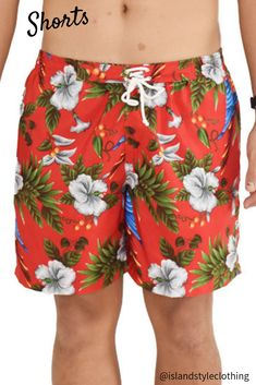 Red Magnum Mens Shorts - Super soft, light-weight and quick dry. Wear as casual - beach to bar ready! #mensshorts #hawaiianprint #cruise #springbreak #partyshorts #hawaiianshorts #mensshort #beachpartyshort #cruise #cruisewear #swimmingcarnival #sportsday #casual #skateshorts #partyoutfitsshort #sportsday #palms #palmsshorts #redshorts #quickdry #swimshorts #beach #cool #luau #beachboys #parrotprint #parrots #magnum