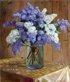 Still Life with Lilacs - Nikolay Bogdanov-Belsky