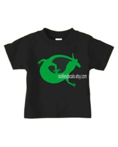 Gecko Lizard Shirt Toddler Boys Or Girls New by OodlesDecals