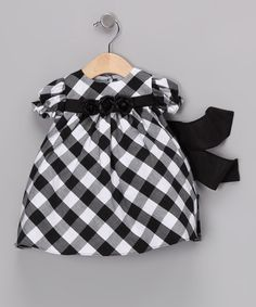 Take a look at this Black & White Gingham Short-Sleeve Dress - Infant by Sweá Pea & Lilli on #zulily today!
