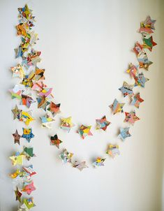 Comic Book Star Paper Garland Childrens Book Page by HoopsyDaisies