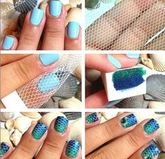 Isn't it amazing? How-to create mesh looking nailart in seconds #diy #nails #polish - bellashoot.com