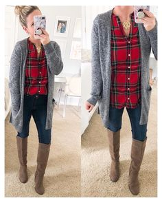 Flannel Shirt Outfit, Flannel Outfits, Cardigan Outfits, Flannel Shirts, Gray Cardigan, Flannels, Winter Outfits Women, Casual Fall Outfits, Autumn Outfits