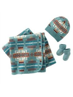 CHIEF JOSEPH KNIT LAYETTE SET-thus is thebrand of joshs red mug