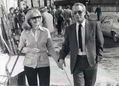 Joanne Woodward and Paul Newman on location in Louisiana for The Drowning Pool Hollywood Couples, Celebrity Couples, Hollywood Stars, Old Hollywood, Drowning Pool, Paul Newman Joanne Woodward, People Of Interest, Classy Men, Iconic Movies