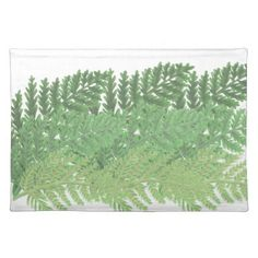 Moss Green Ferns Cloth Placemat - kitchen gifts diy ideas decor special unique individual customized