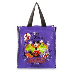 Take Mickey and the gang along for the best of luck while trick-or-treating in your neighborhood. This recycled, reusable bag holds more Halloween candy than you can carry! Magic in the details Created especially forWalt Disney WorldResort Reinforced stitched handles and seams Art includes Mickey, Minnie, Donald, Goo Disney World Halloween, Halloween Bags, Baby Halloween, Disney World Theme Parks, Disney Parks, Disney Headbands, Bags 2018, Trick Or Treat Bags, Reusable Grocery Bags