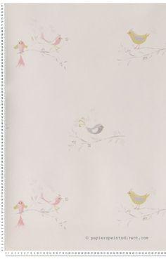 Papier peint sur intiss rose rose larg m leroy for Papier peint chambre fille