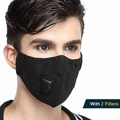 5pcs For Paint Dust Mold Grade N99 Anti-pollution Mask Washable Cotton Respirator With Replaceable Filters Anti-haze Online Discount
