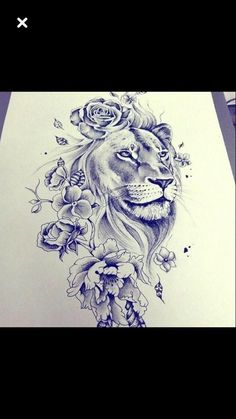 tattoo designs 2019 Masculine, yet feminine too! Would make a great shoulder tattoo! tattoo designs 2019 Masculine, yet feminine too! Would make a great shoulder tattoo! Leo Tattoos, Future Tattoos, Body Art Tattoos, Tatoos, Shaded Tattoos, Tigh Tattoo, Lion Thigh Tattoo, Lion Woman Tattoo, Lion And Lioness Tattoo