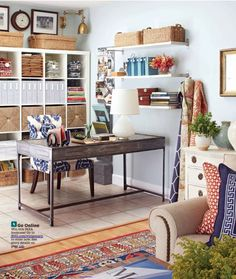 expedit ikea bookcase, amy meir home office.