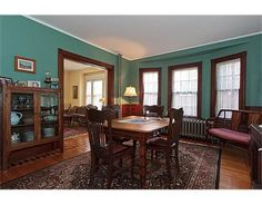 Dining room in a Victorian home in Dorchester, MA