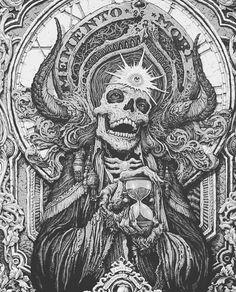 Shamanism and the Left-Handed Path Arte Black, Black Art, Arte Horror, Horror Art, Tattoo Drawings, Art Drawings, Arte Punk, Dark Art Tattoo, Satanic Art