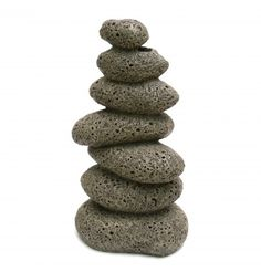 Blue Ribbon Pebble Column- Medium (12 x 9 x 23cm)