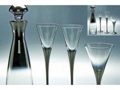 ΣΕΤ ΚΟΥΜΠΑΡΟΥ ΕΠΙΠΛΑΤΙΝΩΜΕΝΟ Flute, Martini, Champagne, Tableware, Glass, Dinnerware, Drinkware, Tablewares, Corning Glass