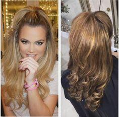 Half up do ponytail