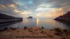 Vista Panorámica del Hornillo, Aguilas - Bay of Hornillo at Aguilas, Murcia on the Costa Calida with its 19th century pier. www.jeronimocontreras.com
