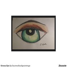 Green Eye Canvas Print I love expermenting with eyes. I believe the eyes holds so much beauty, soul and depth.