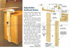 #1166 Adjustable Outfeed Roller - Table Saw Workshop Solutions